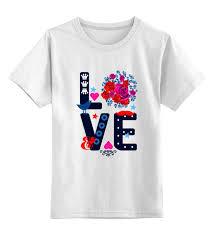 <b>Printio</b> детская футболка <b>классическая</b> унисекс футболка любовь
