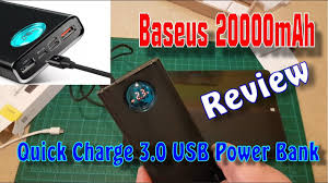 <b>Baseus 20000mAh</b> Type C PD Fast Charging + Quick Charge 3.0 ...