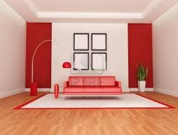 modern living room red