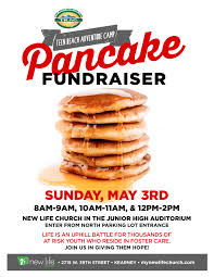 pancake fundraiser flyer new life church pancake fundraiser flyer