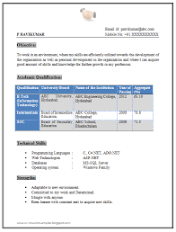 Resume For Freshers Electrical Engineers