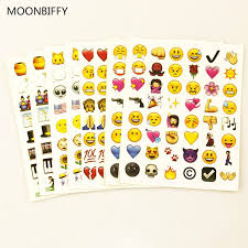 MOOBIFFY 1PCS <b>sheet</b>(<b>48stickers</b> ) Cute <b>Lovely 48</b> Die Cut Emoji ...