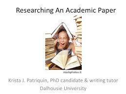 Researching An Academic Paper stockphotos itKrista J  Patriquin  PhD candidate  amp  writing