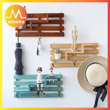 MIZONA Vanity <b>Creative Wooden</b> Wall Rack 3 Story <b>Wall Hanging</b> ...