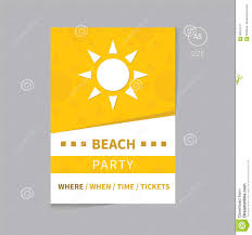 party brochure flyer template design a5 size stock vector image party brochure flyer template design a5 size