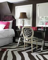 bedroom incorporates zebra print
