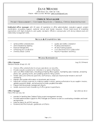 office manager resumefree resume templates