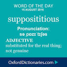 supposititious