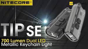 Gearbest - <b>NITECORE TIP SE Dual-core</b> Metal Keychain Light ...