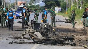 Image result for Bomb kills three Thai police officers in southern ambush