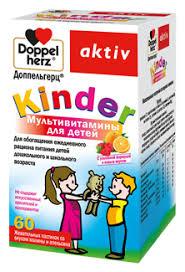 Биодобавка <b>Мультивитамины</b> для детей <b>Kinder</b> Aktiv 60 пастилок ...