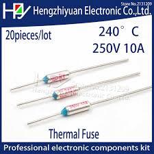 <b>20pcs</b>/<b>lot 2017 Hot SF240E</b> TF 240 Celsius Circuit Cut Off Thermal ...