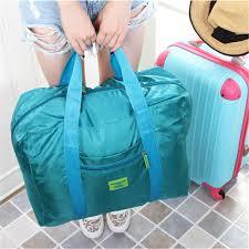 Large Capacity <b>Foldable Travel Bag Nylon</b> Storage <b>Bags</b> Hand ...