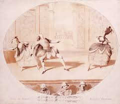 the origins of ballet victoria and albert museum print of gaeacutetan vestris 1729 1808 as jason performing at randolphe king s theatre late 18th century museum no e 2836 1962