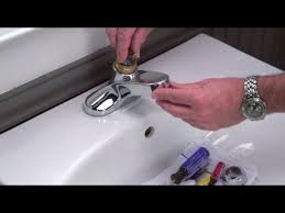 How to Repair a Leaky <b>Lavatory Faucet</b> - YouTube
