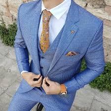 Slim-Fit Plaid Suit Vest <b>Blue</b> – BOJONI | Мужской наряд, Мужские ...