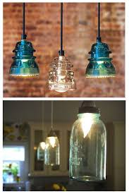 antique insulator pendant lights and blue mason jar lights antique mason jars lights