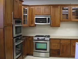 kitchen cabinets glass doors design style: source  shaker style maid kitchen cabinet with corner glass door and wall oven organizer