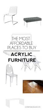 roundup of the most affordable acrylic furniture pieces out there cheap acrylic furniture