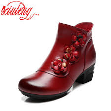 Xiuteng New <b>Cow Leather</b> Ankle Boots Women Shoes Genuine ...