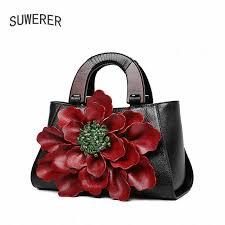 Suwerer Genuine <b>Leather Women Handbags</b> Embossed <b>Luxury</b> ...