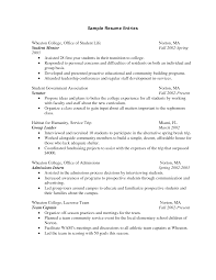 freshman college student resume resume for college college student S IMIsDR Template net