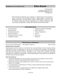 resume templates executive assistant cipanewsletter best administrative assistant resume best business template