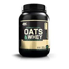 Optimum Nutrition (ON) 100% Natural <b>Oats & Whey</b> Protein Powder ...