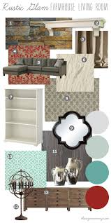 Mood Board Rustic Glam Farmhouse Living Room  Our DIY House By The Mommy