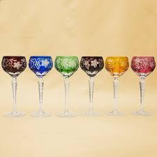 Шесть <b>Бокалов для вина</b> из Цветного Хрусталя серия «ANTIKA ...