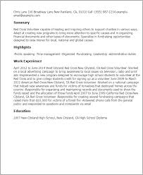 professional red cross volunteer templates to showcase your talent    resume templates  red cross volunteer