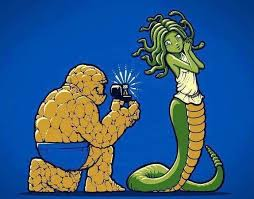True love. The Thing and Medusa! | Quirky | Pinterest via Relatably.com