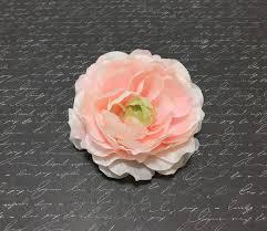 One BLUSH <b>PINK</b> Ruffle Ranunculus - 3.5 Inches - <b>Artificial Flower</b> ...