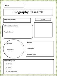biography writing graphic organizer  good for black history month Make Resume Format