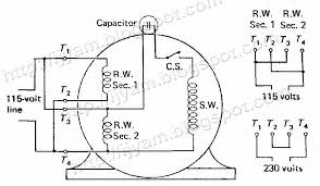 wiring diagram for motor capacitor the wiring diagram single phase capacitor start run motor wiring diagram wiring diagram