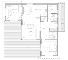 Plan CH   Small house plan  Suits well to small lot  Nice open    Plan CH   Small house plan  Suits well to small lot  Nice open areas  Two living areas and three bedrooms  Floor area  m²  Building area
