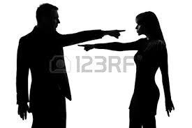 Resultado de imagem para discussão casal silhueta