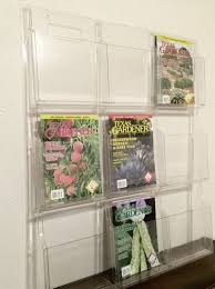 magazine rack wall mount: wall mount clear magazine rack  pockets office display