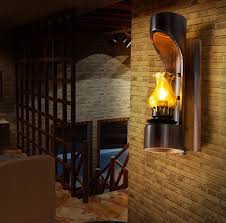 loft style led wall light fixtures bamboo tube vintage wall lamp for bedside stairs wall sconce bamboo lighting fixtures