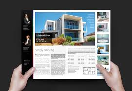 real estate agency brochure template for photoshop illustrator real estate brochure template v2