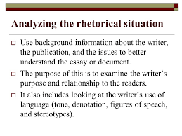 call to write third edition chapter two reading for academic  analyzing the rhetorical situation  use background information about the writer the publication and