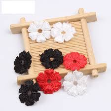 <b>10pcs</b>/lot high quality elegant White/Black/<b>Red lace</b> fabric patch ...