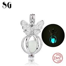 Silver 925 Original glowing Butterfly <b>Charms</b> Antique Fluorescence ...