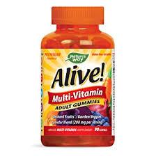 Nature's Way <b>Alive</b>! Adult Premium <b>Gummy Multivitamin</b>, Fruit and ...