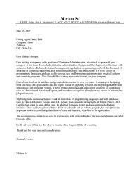 cover letter database administrator cover letter network administrator