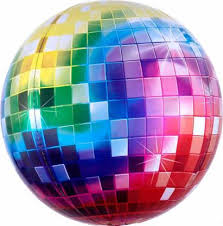 My Party Suppliers Printed Mirror Metallic Disco Ball ... - Flipkart.com