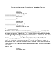 document controller cover letter sample cover letter sample  document