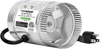 VIVOSUN <b>4 inch</b> Inline <b>Duct Booster</b> Fan 100 CFM, HVAC Exhaust ...
