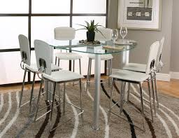 size dining room contemporary counter: counter height glass dining table set glass contemporary counter with contemporary counter height dining sets