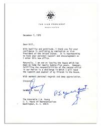 lot detail rare gerald ford letter signed as vice president rare gerald ford letter signed as vice president one day after taking the vp oath of office i am sad leaving the house which has been my home for